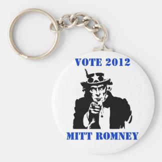 VOTE MITT ROMNEY 2012 BASIC ROUND BUTTON KEYCHAIN