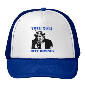 VOTE MITT ROMNEY 2012 TRUCKER HAT