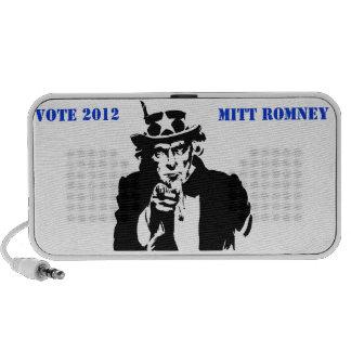 VOTE MITT ROMNEY 2012 PORTABLE SPEAKERS