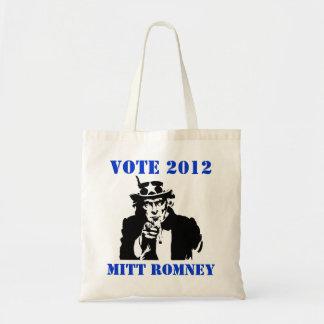 VOTE MITT ROMNEY 2012 TOTE BAG