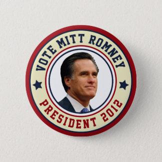 Vote Mitt Romney For President 2012 Button