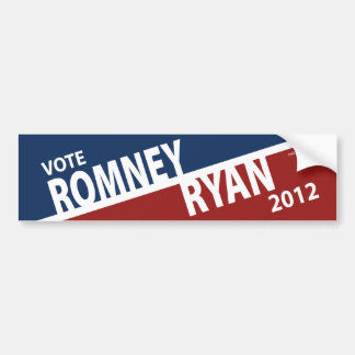 Vote Mitt Romney Paul Ryan 2012 Bumper Sticker Car Bumper Sticker