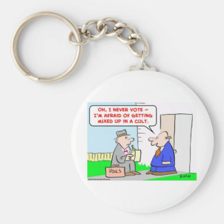 vote mixed cult keychain