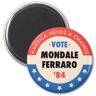 Vote Mondale/Ferraro '84 2 Inch Round Magnet