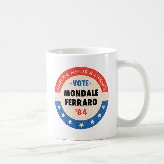 Vote Mondale/Ferraro '84 Classic White Coffee Mug