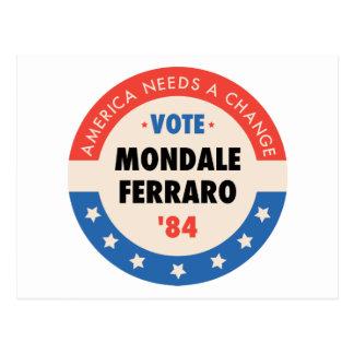 Vote Mondale/Ferraro '84 Postcard