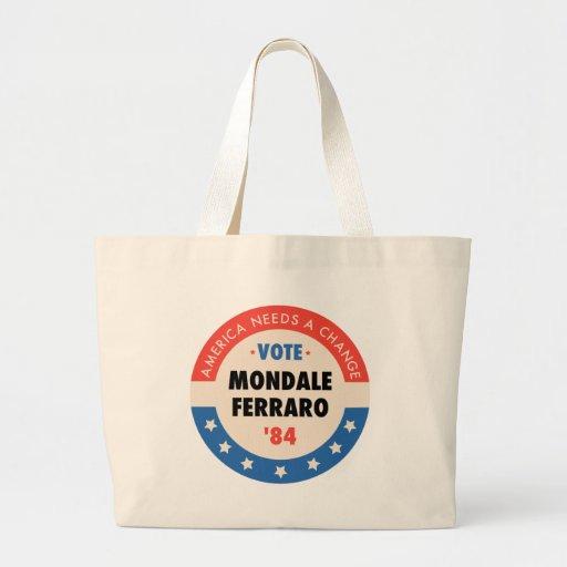 Vote Mondale/Ferraro '84 Tote Bags