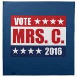VOTE MRS. C. 2016 CLOTH NAPKINS