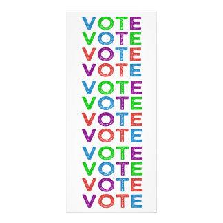 VOTE Multi-colored Rack Card