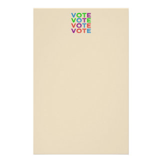 VOTE Multi-colored Stationery