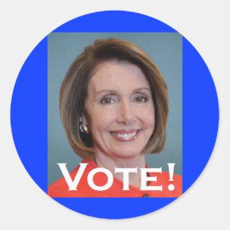 Vote Nancy Pelosi Classic Round Sticker