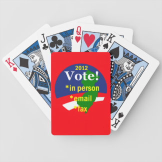 VOTE NEW JERSEY BICYCLE PLAYING CARDS