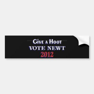 Vote Newt 2012 GAH Bumper Sticker