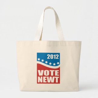 Vote Newt 2012 Large Tote Bag