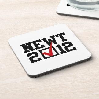 VOTE NEWT GINGRICH 2012 BEVERAGE COASTER