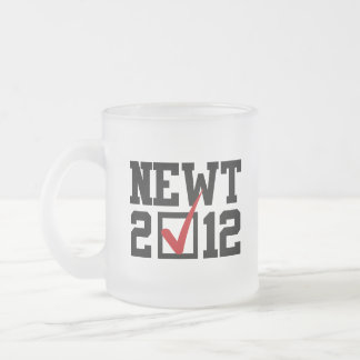 VOTE NEWT GINGRICH 2012 10 OZ FROSTED GLASS COFFEE MUG