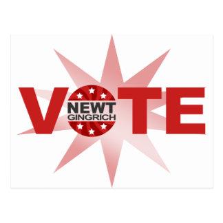 VOTE Newt Gingrich 2012 Postcard