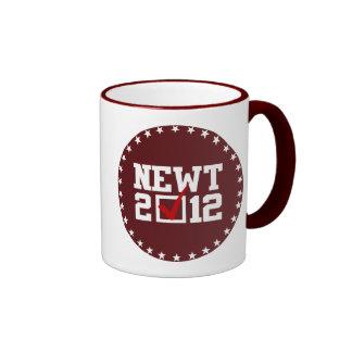 VOTE NEWT GINGRICH 2012 - RINGER COFFEE MUG