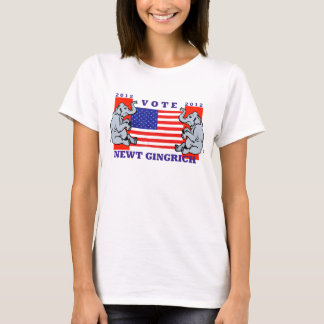 VOTE NEWT GINGRICH TSHIRT