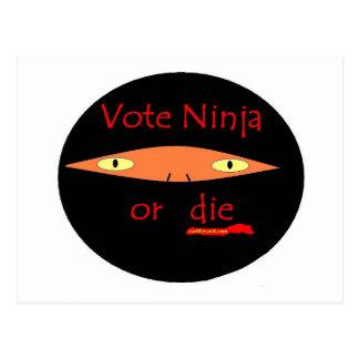 Vote Ninja Or Die!! Postcard