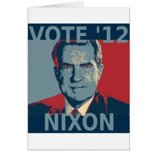 Vote Nixon 2012 Card