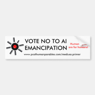 VOTE NO A LA EMANCIPACIÓN DEL AI PEGATINA PARA AUTO