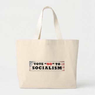 Vote no al socialismo bolsas lienzo