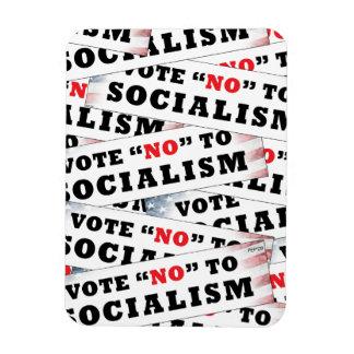 Vote no al socialismo iman rectangular