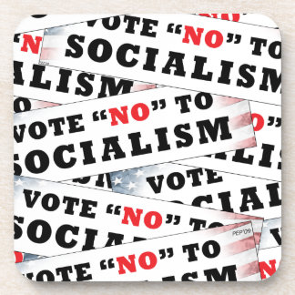 Vote no al socialismo posavasos de bebidas