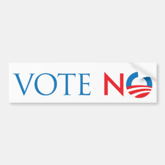 Vote No Car Bumper Sticker