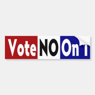 Vote no en 1 pegatina para el parachoques etiqueta de parachoque