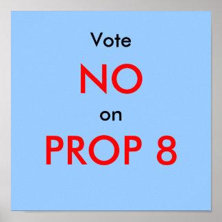 Vote NO en el APOYO 8 (ii) Póster