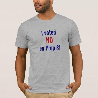 ¡Voté NO en el apoyo 8! Playera