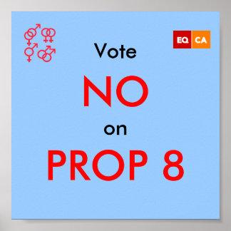 Vote NO en el APOYO 8 Póster
