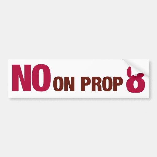 Vote no en el asunto 8 de California Pegatina Para Auto