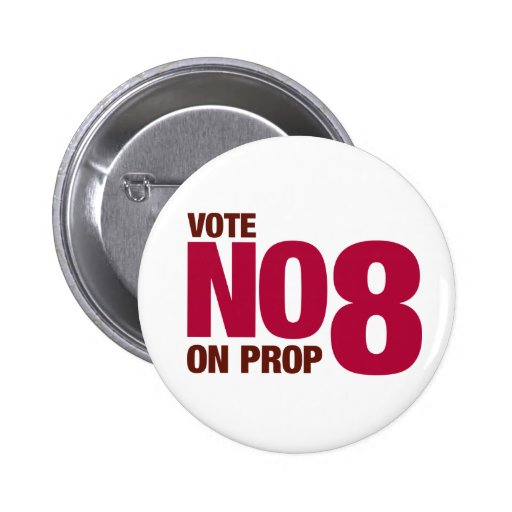 Vote no en el asunto 8 de California Pins