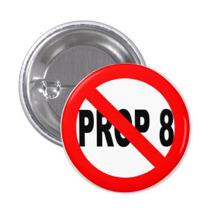 Vote no en el botón del apoyo 8 pin redondo de 1 pulgada