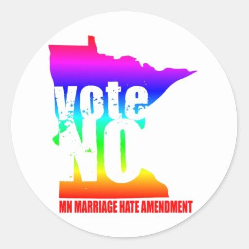 vote NO MN MARRIAGE HATE AMENDEMENT Sticker