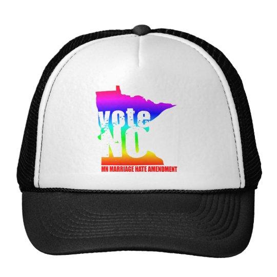 vote NO MN MARRIAGE HATE AMENDEMENT Trucker Hat