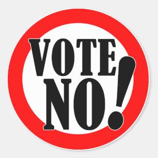 ¡Vote no! Etiqueta Redonda
