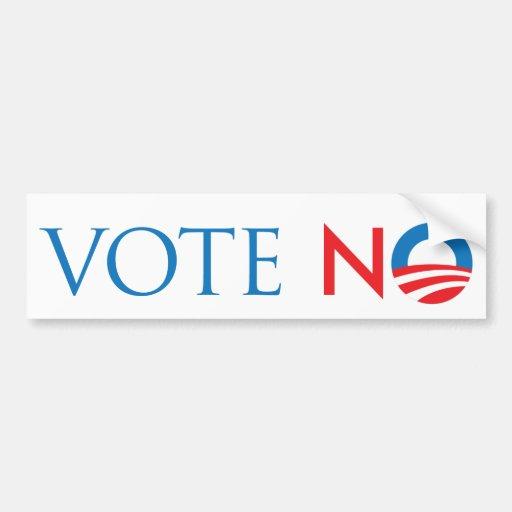 Vote no pegatina de parachoque