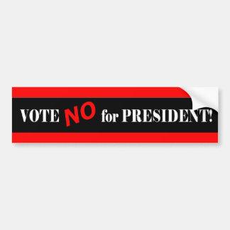 Vote no por presidente pegatina para auto