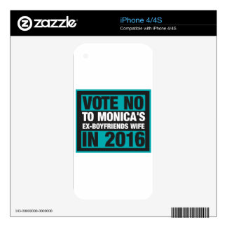 Vote No To Monica's Ex-Boyfriend's Wife In 2016 Skins For The iPhone 4