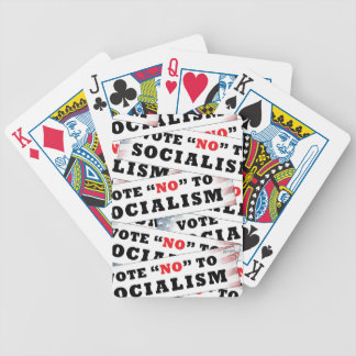 Vote No To Socialism Bicycle Playing Cards
