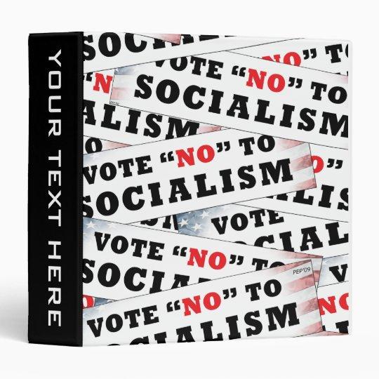 Vote No To Socialism Binder