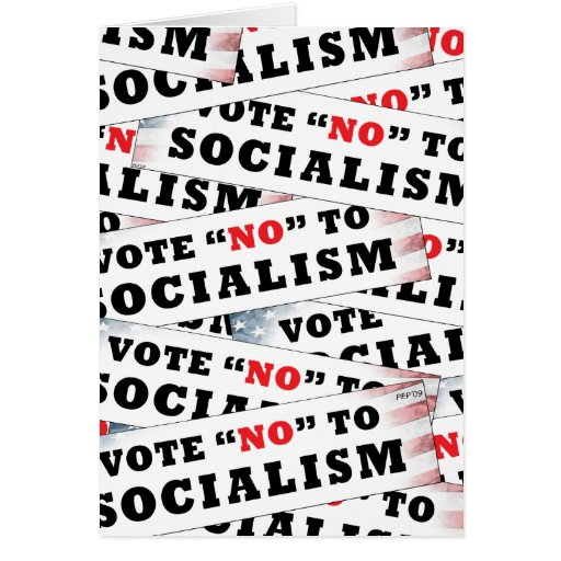 Vote No To Socialism Cards