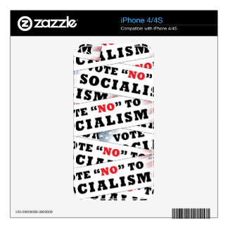 Vote No To Socialism Skin For The iPhone 4