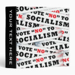Vote No To Socialism Vinyl Binder
