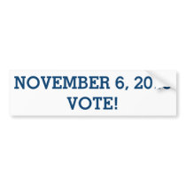 Vote November 6, 2018 Bumper Sticker