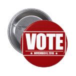 Vote November 8 2016 Round Button